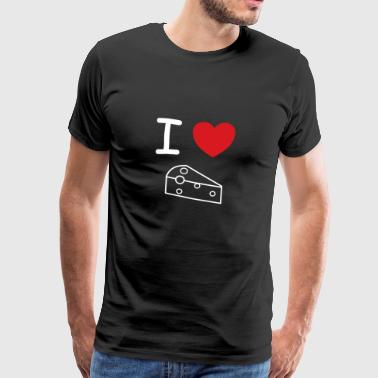 I love cheese heart gift idea - Men's Premium T-Shirt
