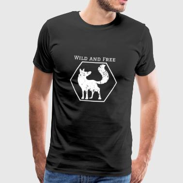 Wild and Free Fox Wild Animal Gift Idea Animal - Men's Premium T-Shirt