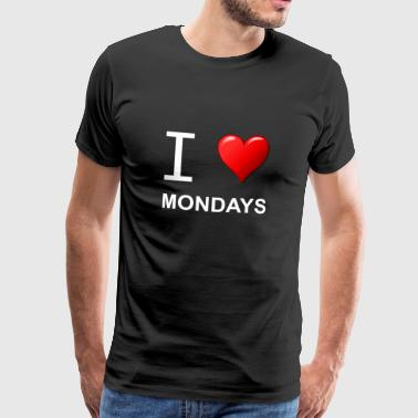 I LOVE MONDAYS white - Men's Premium T-Shirt
