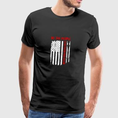 We The People Si Vis Pacem Para Bellum T-shirt - Mannen Premium T-shirt