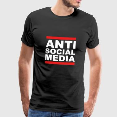 Anti Social Media T-shirt - Mannen Premium T-shirt