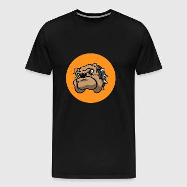 Cartoon Bulldog - Men's Premium T-Shirt