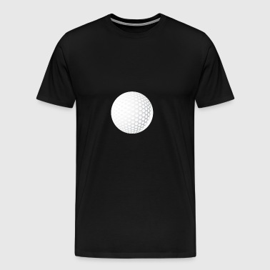 golf-ball round symbol single white knob - Men's Premium T-Shirt