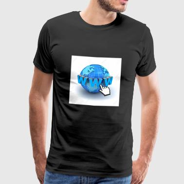 14821565-Internet world-wide-web koncept-Jord-glo - Herre premium T-shirt