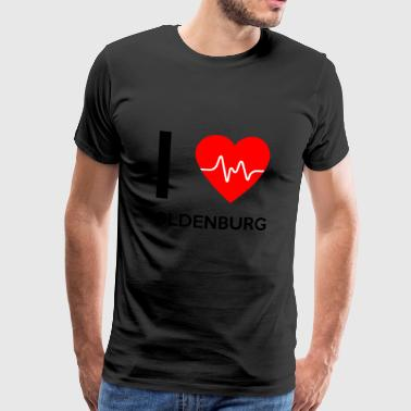 I Love Oldenburg - jeg elsker Oldenburg - Herre premium T-shirt