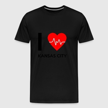 I Love Kansas City - jeg elsker Kansas City - Premium T-skjorte for menn