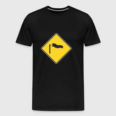 Road Sign windy - Men's Premium T-Shirt