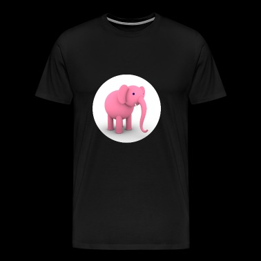 Pink Elephant - Men's Premium T-Shirt