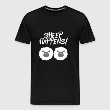 Mouton / ferme: Sheep Happens! - T-shirt Premium Homme