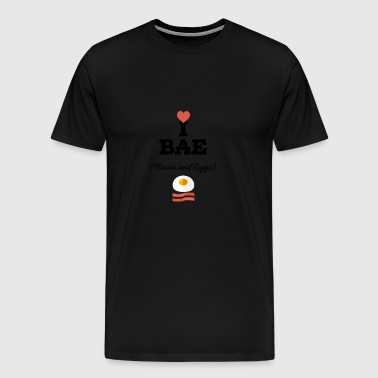 I love bacon and eggs - Men's Premium T-Shirt