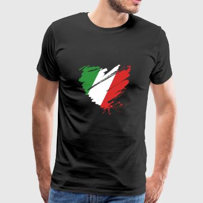 Heart Cuore Italy Italy Football - Men's Premium T-Shirt