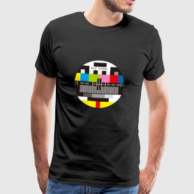Television Test Screen No Signal - T-shirt Premium Homme