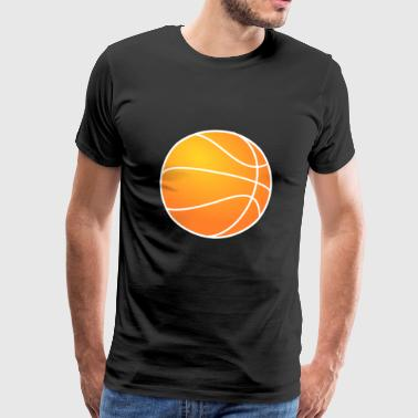 Basketball with details - Men's Premium T-Shirt
