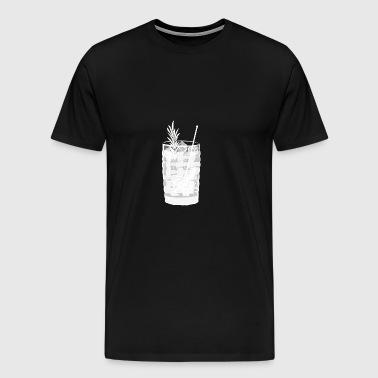 Gin Tonic Glass with Rosemary - transparent - Men's Premium T-Shirt