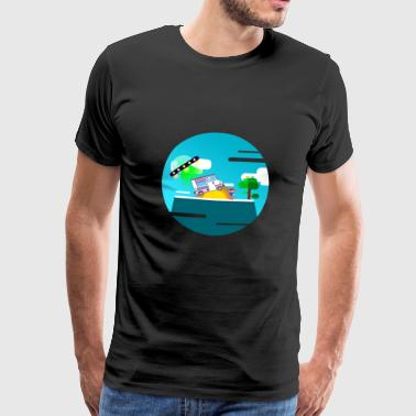 Alien Ice Cream Thief - Men's Premium T-Shirt