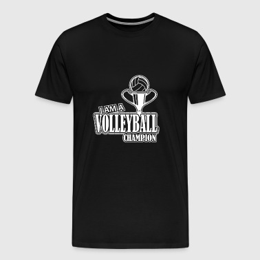 Volleyball Logo Club Club Sport Ball Champion - Men's Premium T-Shirt
