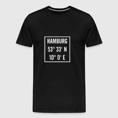Hamburg knows with latitude and longitude - Men's Premium T-Shirt