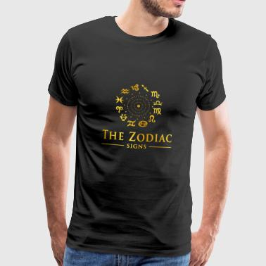 ZODIAC SIGNS - Premium T-skjorte for menn