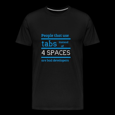 tabs and spaces - Men's Premium T-Shirt
