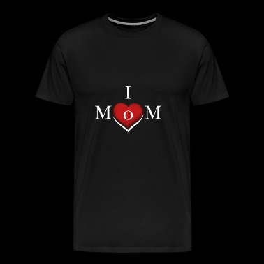 I Love Mom - Gift Idea - Men's Premium T-Shirt
