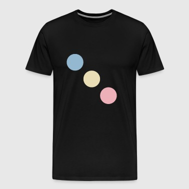 Trois points colorés (diagonale) - T-shirt Premium Homme
