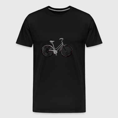Once around the world by bicycle - Men's Premium T-Shirt