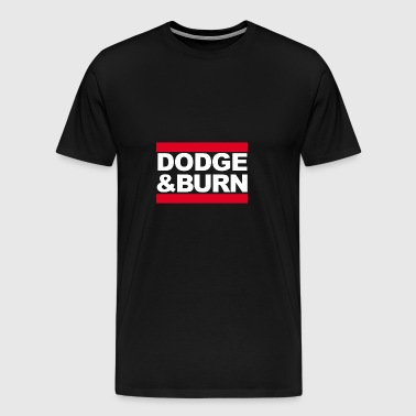 Signatur Shirt // dodge burn - Herre premium T-shirt