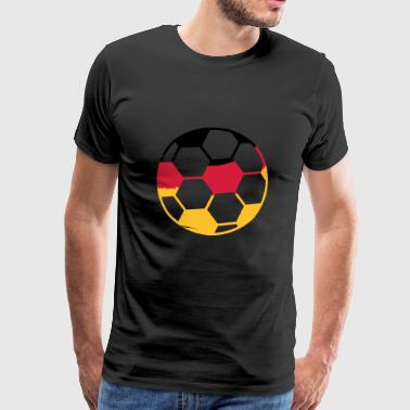 silhouette germany fan celebrate party ball pattern fl - Men's Premium T-Shirt