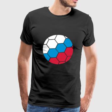 russia russia fan celebrate party ball pattern flag - Men's Premium T-Shirt
