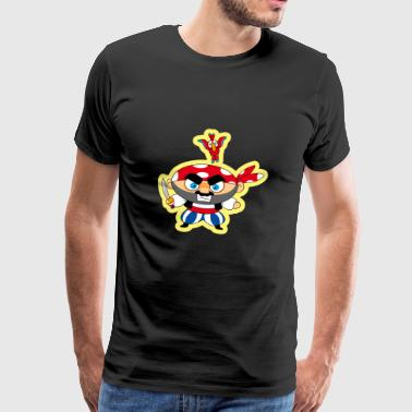 piratenschip boot piratenschip skull4 - Mannen Premium T-shirt