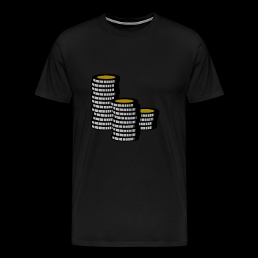 Poker Chip Leader Chips Money Cash - Men's Premium T-Shirt