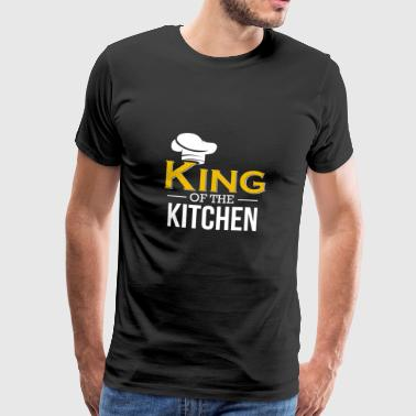 King of the Kitchen - Koken Shirt Geschenktoken - Mannen Premium T-shirt