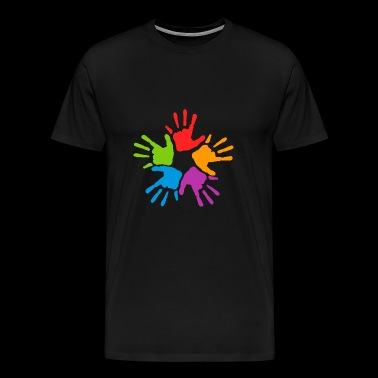 handprints - Men's Premium T-Shirt