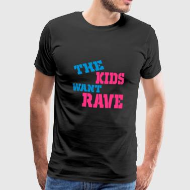 rave - Premium T-skjorte for menn