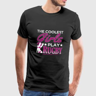 COOLEST GIRLS PLAY RUGBY - Men's Premium T-Shirt