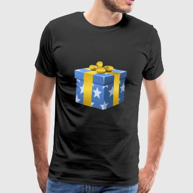 Gift - Stars - Gold Bow - Men's Premium T-Shirt