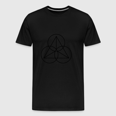Triangle with circles - Men's Premium T-Shirt