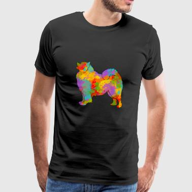 Samoyede Multicolore - T-shirt Premium Homme
