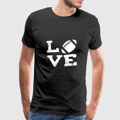 American football player sports love gift - Men's Premium T-Shirt