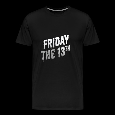 Friday the 13th Retro 50ies Halloween Lettering - Men's Premium T-Shirt