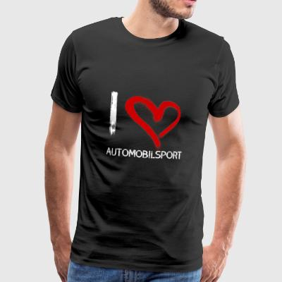 I love Automobilsport - Männer Premium T-Shirt