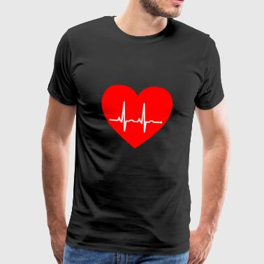 Heartbeat... - Men's Premium T-Shirt
