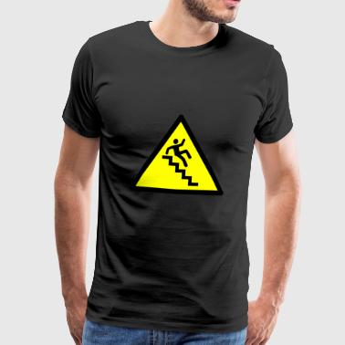 Escaliers Attention - T-shirt Premium Homme