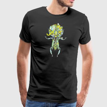 insect snout space2 check 300 - Mannen Premium T-shirt