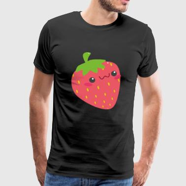 Strawberry with face - Men's Premium T-Shirt
