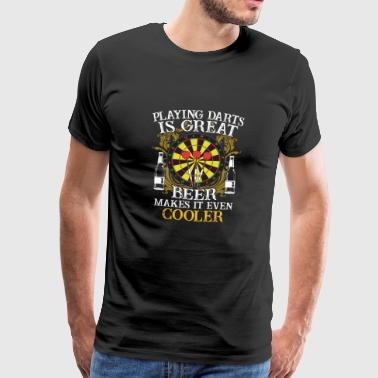 Darts Shirt · Darts · Daring · Beer makes it cooler - Men's Premium T-Shirt
