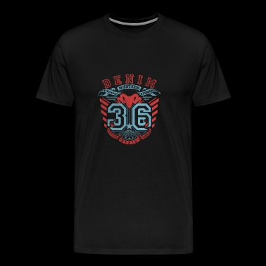 denim 36 western style badge - Men's Premium T-Shirt