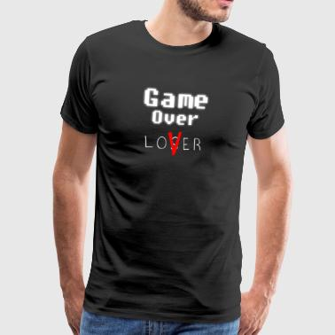 Game over minnaar w - Mannen Premium T-shirt