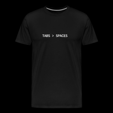 Tabs vs Spaces - Programmer's Tee - Men's Premium T-Shirt