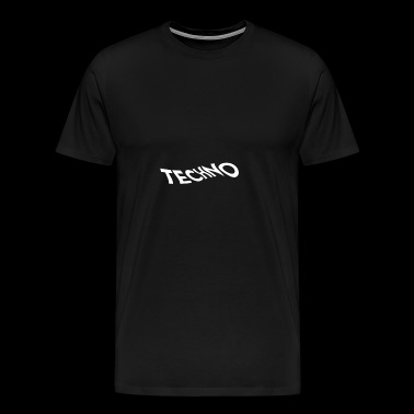 Techno Wave Logo - Premium T-skjorte for menn